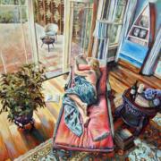 """Awakening • 36"""" x 24"""" oil on canvas"""