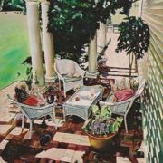 """Dog Days of Summer • 36"""" x 24"""", oil on linen"""