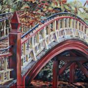 """Crim Dell Bridge • 16"""" x 20"""" oil on canvas"""