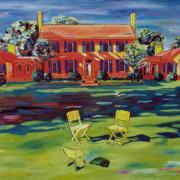 """Homestead on Goshen Lane • 30"""" x 40"""" oil on canvas"""