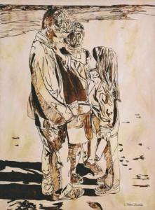 "Wonderment • 48"" x 36"", oil on canvas"