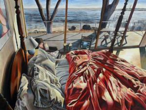 "Ocean Dreamland • 30"" x 40"", oil on linen"