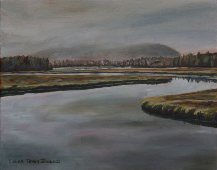 "Bass Harbor Haze #2 9"" x 12"", oil on linen"