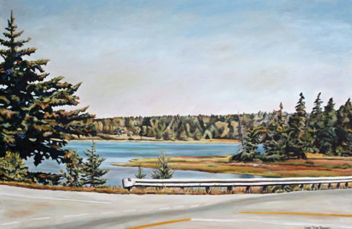 "Desert Island Intersect 24"" x 36"", oil on linen"