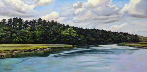 "Kennebunkport Day • 15"" x 30"". oil on linen"