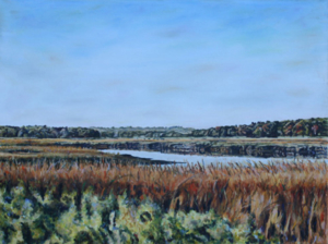 "River Marsh • 18"" x 24"", oil on canvas"
