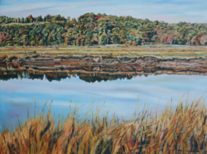 "South River Marsh • 30"" x 40"", oil on canvas"
