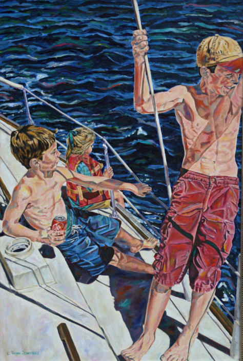 """Our Crew • 36"""" x 24"""", oil on canvas"""