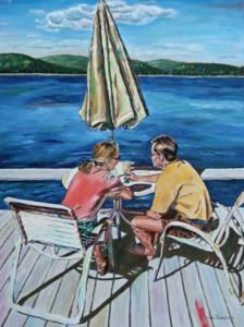 "Island Time • 24"" x 18"", oil on canvas"