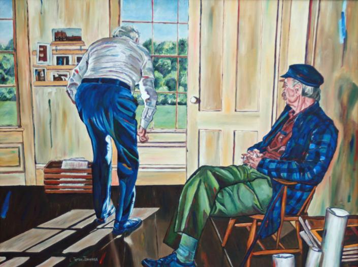 "Wyeth Watchers • 30"" x 40"", oil on canvas"