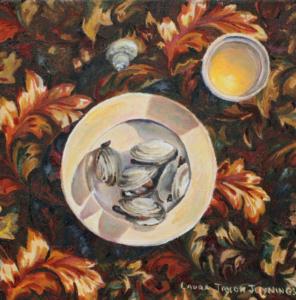 "Autumn Steamers • 10"" x 10"", oil on canvas"