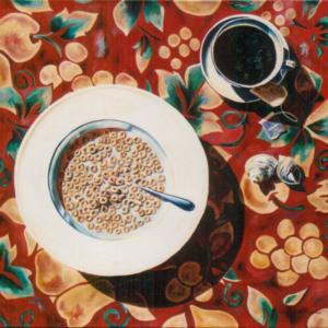 "Cheerio • 36"" x 36"", oil on canvas"