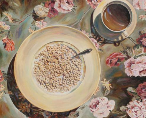 """Cherish • 48"""" x 48"""", oil on canvas"""